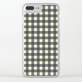 CHARCOAL CHECK Clear iPhone Case