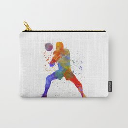Volley ball player man 02 in watercolor Carry-All Pouch