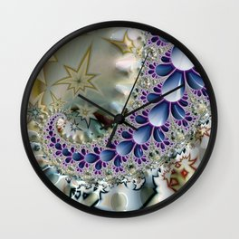 Birth of the Sea Slugs Fractal Wall Clock