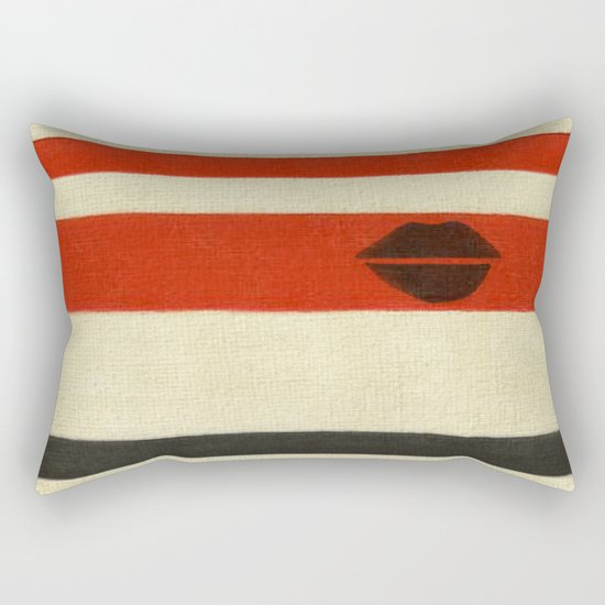 The Lady Vanishes Rectangular Pillow