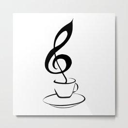 Music and coffee Metal Print