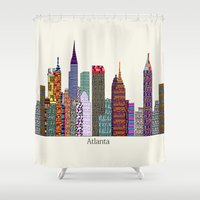 atlanta Shower Curtains featuring Atlanta city  by bri.buckley
