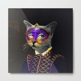 Cool Animal Art - Cat Metal Print