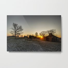 Dawn at Valley Forge Metal Print