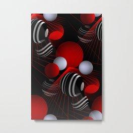 crazy lines and balls -20- Metal Print