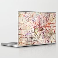 dallas Laptop & iPad Skins featuring Dallas by MapMapMaps.Watercolors