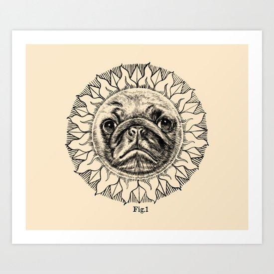 Astronomy Pug Art Print