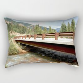 Bridge Over Mineral Creek Rectangular Pillow