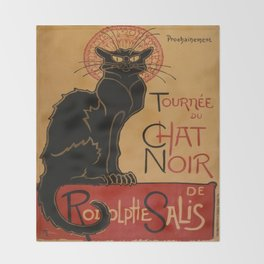 Le Chat Noir - Théophile Steinlen Throw Blanket