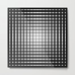 Optical illusion with black strips Metal Print