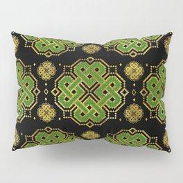 Celtic Endless Knot - Shamrock Four-leaf Clover Pillow Sham