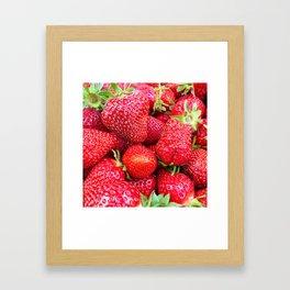 Close-up of Fresh Strawberries Framed Art Print