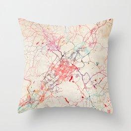 Scranton map Pennsylvania painting Throw Pillow