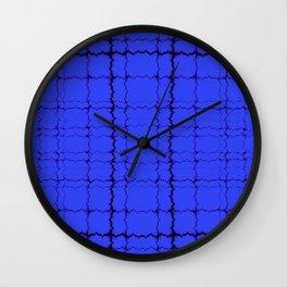 jagged, blue Wall Clock