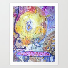 Creation with Wings Art Print