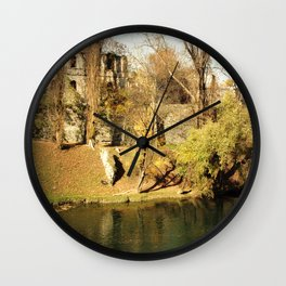 The autumn in the fort Wall Clock