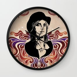 Tom Petty (Tribute Mural 2018 for Tom Petty Birthday Bash, Gainesville) // Heartbreakers Music Rock Wall Clock