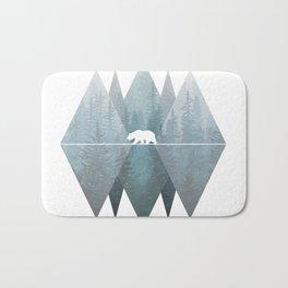 Misty Forest Mountain Bear Bath Mat