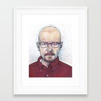 walter white Framed Art Prints featuring WALTER by Jef2D