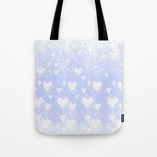 snowing hearts Tote Bag