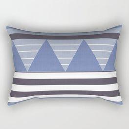 Patchy Stormy Blues Rectangular Pillow