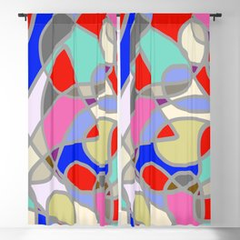 Stain Glass Abstract Meditation Painting 1 Blackout Curtain