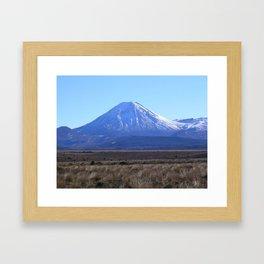 Ngauruhoe from the Desert Road Framed Art Print