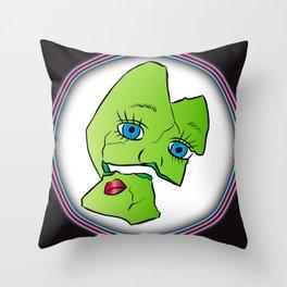 Broken Frankenstein Throw Pillow