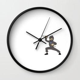 Teacher Ninja  Samurai Ninjas Gift Japanese Ninja stars Fighter Gift Wall Clock
