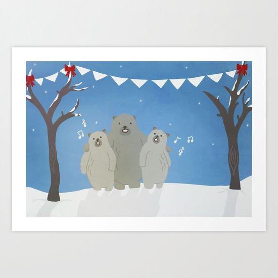 Winter Bears Art Print