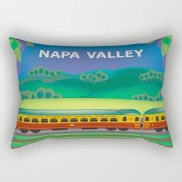 Napa Valley, California - Skyline Illustration by Loose Petals Rectangular Pillow