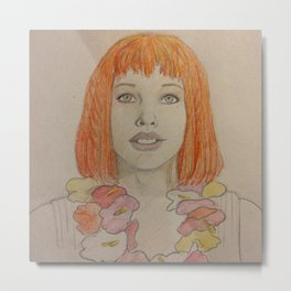 Leeloo Dallas Multi-Pass Metal Print