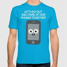 Emojionally Available Mens Fitted Tee X-LARGE Teal