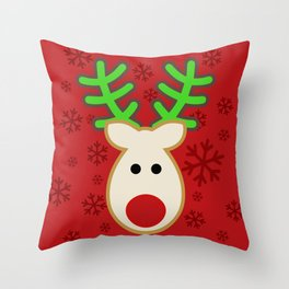 Rudolph the Reindeer Throw Pillow