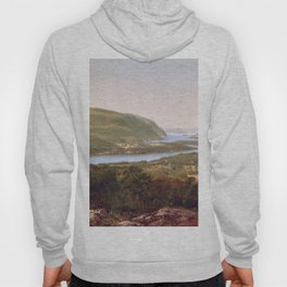 View From Garrison West Point New York 1870 By David Johnson | Reproduction | Romanticism Landscape Hoody