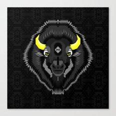 Geometric Bison Canvas Print