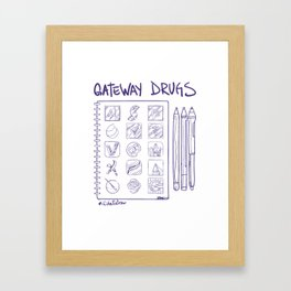 Gateway Drugs Framed Art Print