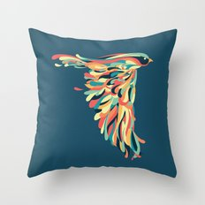 Downstroke Throw Pillow