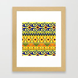 Pop Art in Yellow Framed Art Print