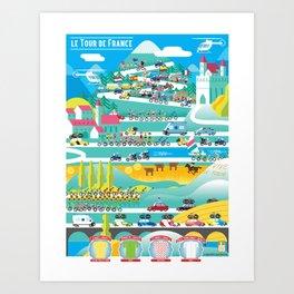 le Tour Art Print