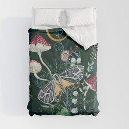 Mushroom night moth Comforters