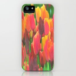 Tulips make even instant coffee taste better. Okay, I lied. iPhone Case