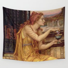 THE LOVE POTION - EVELYN DE MORGAN  Wall Tapestry