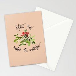 *Kiss* me under the Mistletoe Stationery Cards