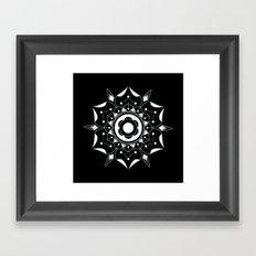 Geometric Flower Framed Art Print