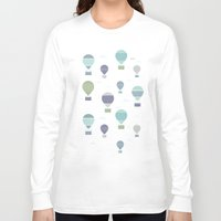 hot air balloons Long Sleeve T-shirts featuring Hot Air by Styloclay