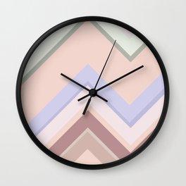 Baesic Chevron (Earthtones) Wall Clock