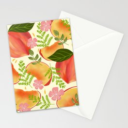Peaches & Flowers Stationery Cards