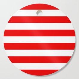 Stripe Red White Cutting Board