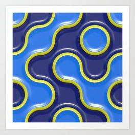 Bubble Blue Art Print
